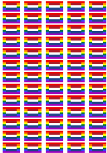 Netherlands Gay Pride Flag Stickers - 65 per sheet